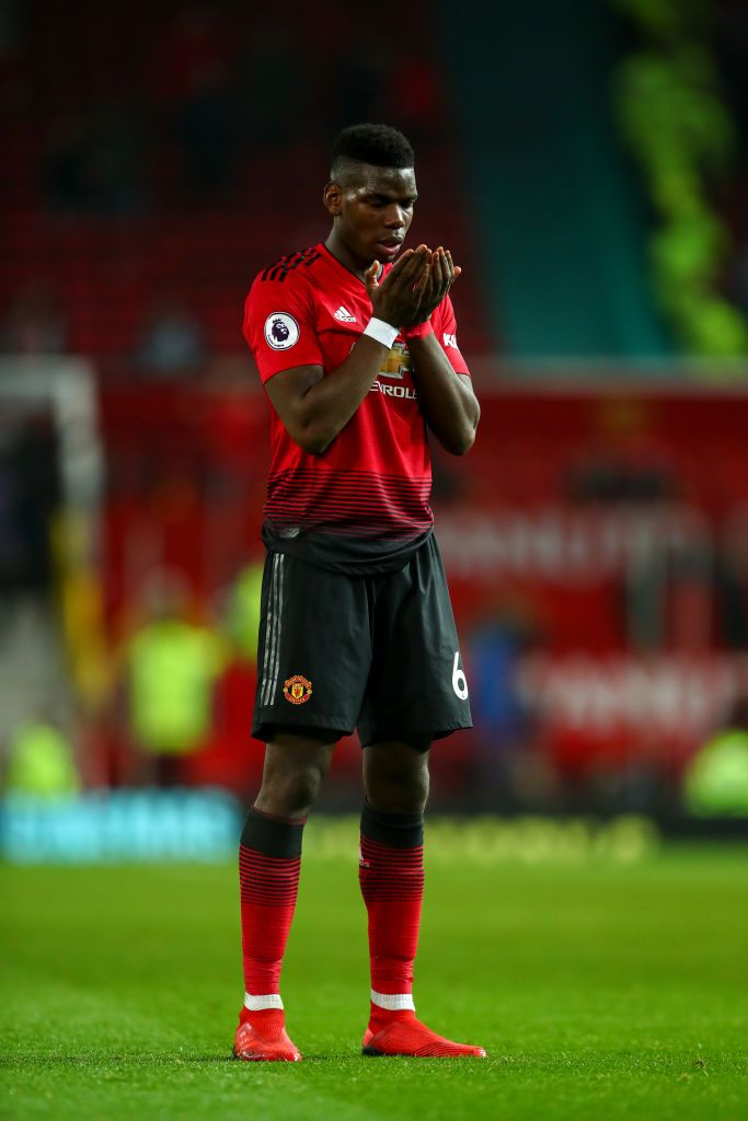 Paul Pogba Of Manchester United Prays At Full Time During The Premier Paul Pogba Manchester United Manchester United Team Manchester United Football Club