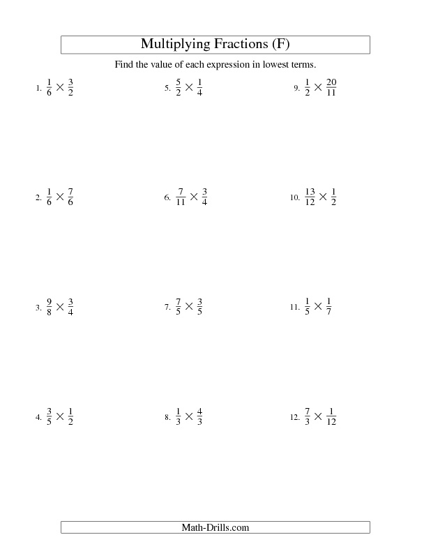 Multiplying and Simplifying Proper and Improper Fractions (F ...