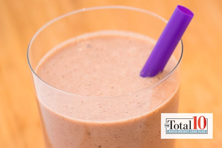Total 10 Chocolate-Covered Almond Smoothie: Try this sweet treat, packed with protein and essential fatty acids, for breakfast or dessert!