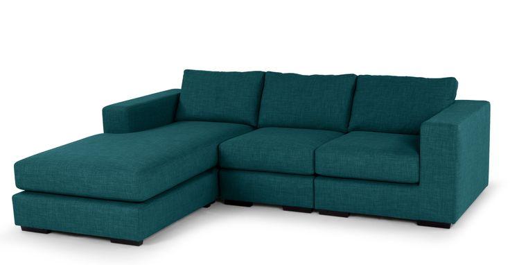 Gal loves her teal ... Mortimer 4 Seater Modular Corner Sofa, Shadow Teal | made.com