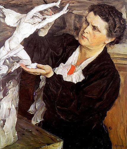 Mikhail Nesterov, Portrait of a Sculptor, 1940