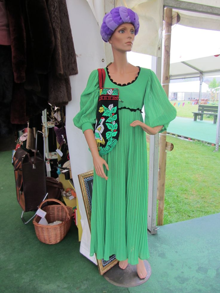 Felicity wears a different vintage outfit daily.  Many visitors popped along just to see what she was modelling that particular day.  Hay Does Vintage, Hay-on-Wye