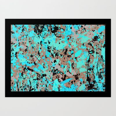 The soul - Digital action painting Art Print by Sonia Marazia - $15.60