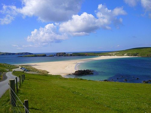 St Ninian's Beach in the Shetland Islands Scotland | Europe a la Carte Travel Blog