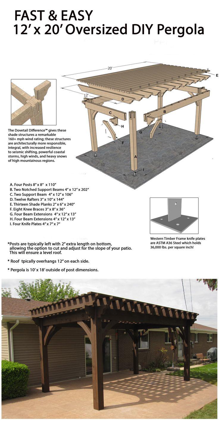Fast and easy oversize DIY pergola!