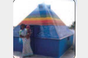 Trinetra Pyramid  Meditation Center http://www.pyramidseverywhere.org/pyramids-directory/telangana/medak-district  #Pyramid #Pyramids