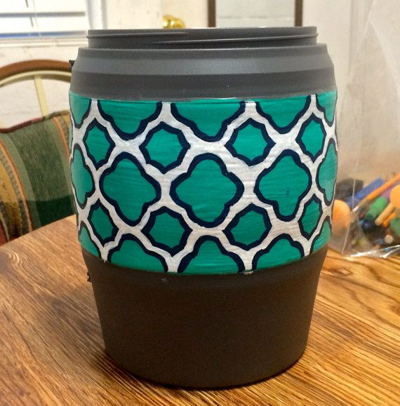 Geometric Hand Crafted Bubba Keg Monogram by CraftedByKaley