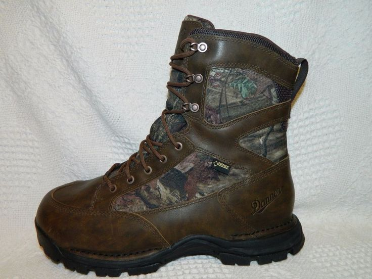 $190 Men's Size 10.5 EE DANNER Brown Camo Waterproof Tall Hiking/Work Boots 1199 #Danner #WorkSafety