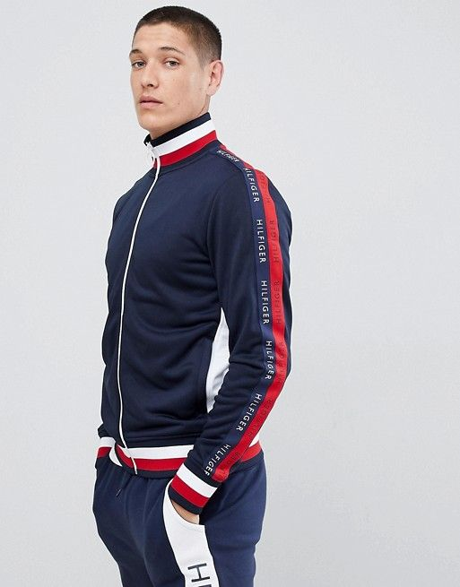 1f967b5126079 Tommy Hilfiger Sports Capsule Full Zip Track Top Icon Stripe Trim ...