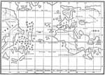 Christopher Columbus Maps: Part of Globe Made in 1492 by Behaim