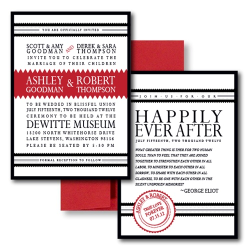 Our Love Story Wedding Invitation Images