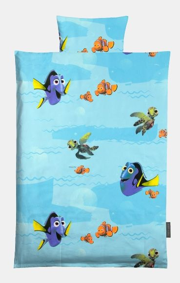 Cotton blue with Finding Dory / Finding Nemo print - Disney. DIY bed linen for children!