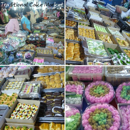 Traditional Indonesian cake market