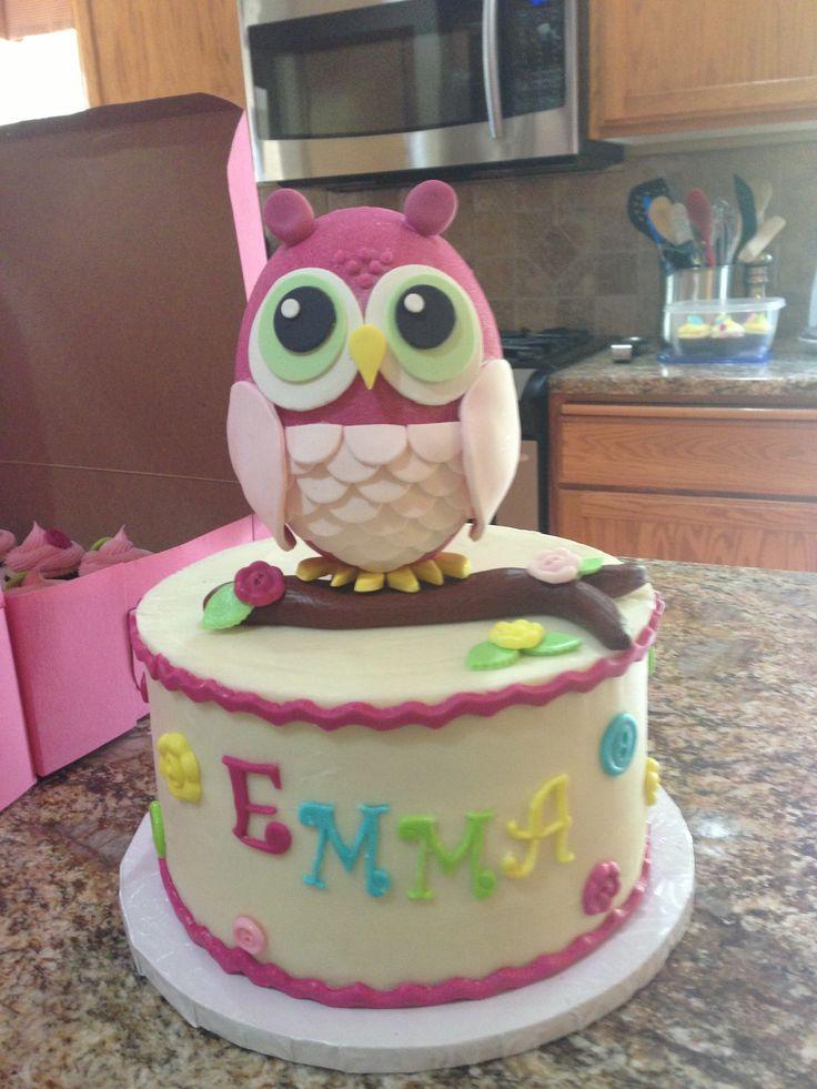 Owl Cake for baby shower.