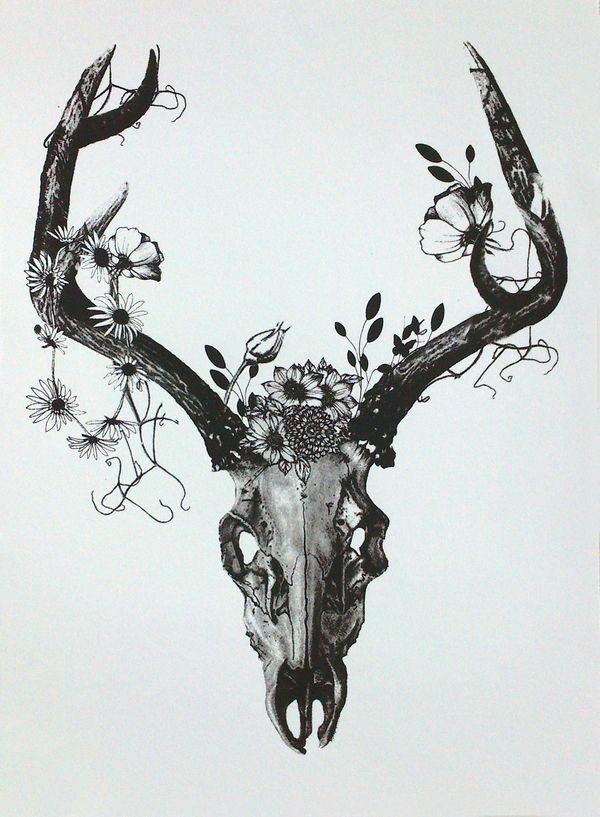 deer skull tattoos tumblr - Google Search