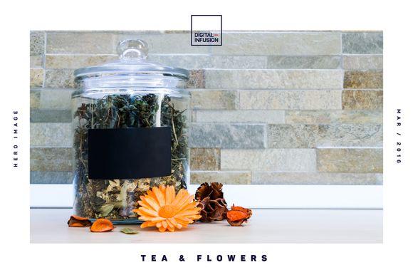 Tea & Flowers | Hero Image by Digital Infusion on @creativemarket