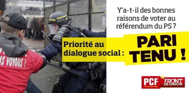 """13 oct 2015 FB, 217 likes  FB description: 'Et pendant ce temps là, Manuel Valls fustige """"l'oeuvre de voyous"""" #AirFrance  Referendum pour l'unité de la gauche disent-ils... – exaspéré.'"""