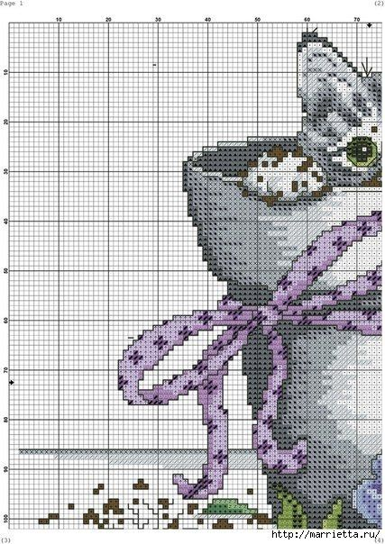 Схемы вышивки - котенок в кружке и в горшочке (4) (427x604, 229Kb)