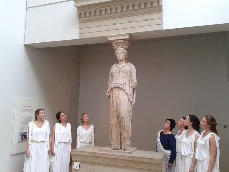 Bringing Home the Parthenon Sculptures: Sonia Theodoridou and Six Modern Day Caryatids Raise Awareness for their Return http://globalgreekworld.blogspot.gr/2014/06/bringing-home-parthenon-sculptures.html
