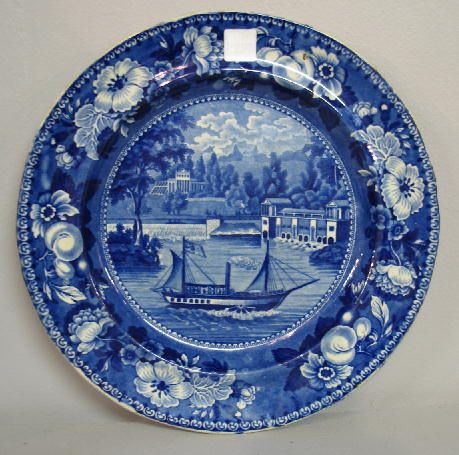 191 HISTORICAL BLUE STAFFORDSHIRE PLATE. Dark blue tra on : antique blue plates - pezcame.com