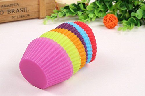 Cupcake Liners Mold 7CM 12pcs 6 Colors Muffin Round Silicone Cup Cake Tool Bakeware Baking Pastry Tools Kitchen Gadgets Ukraine ** To view further for this item, visit the image link. (Note:Amazon affiliate link)