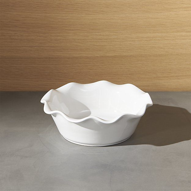 Ruffled Individual Pie Dish | Crate and Barrel