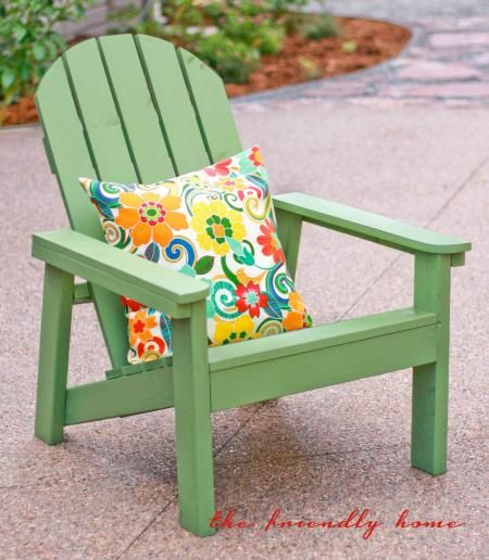 Another Simple Adirondack Chair. Build your own with free plans at Ana-White.com