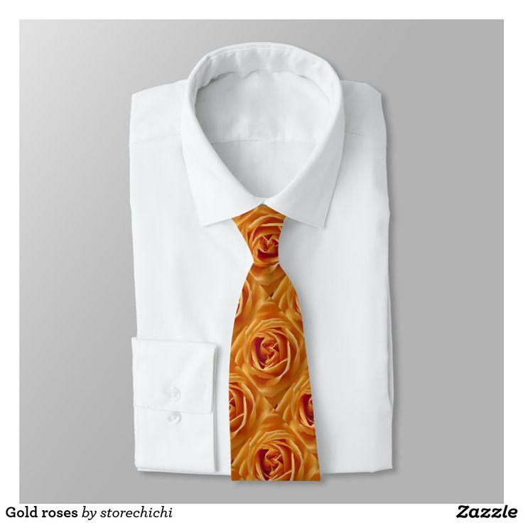 Gold roses tie