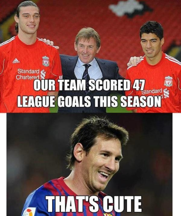Image detail for -messi fcbarcelona barca barcelona liverpool funny football pic