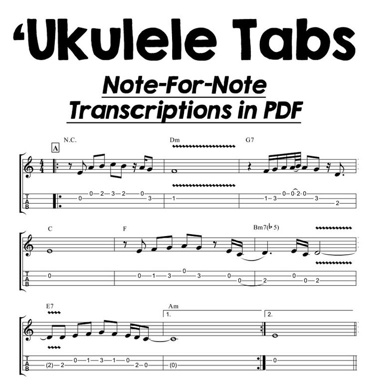 Need some new tunes for your 'ukulele?
