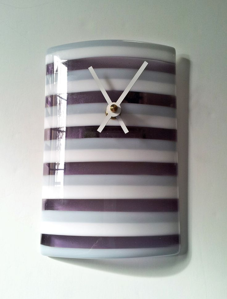 251 best images about fused glass lamp on pinterest for Fused glass wall clocks
