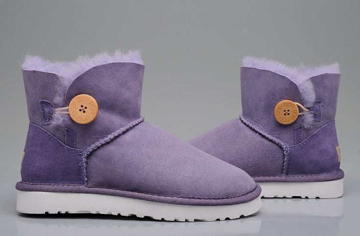 UGG Boots 3353 Bailey Button Purple AAA, FREE SHIPPING around the world