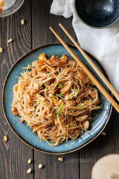 Tilapia rice noodles stir-fry recipe #stirfry #tilapia #pasta