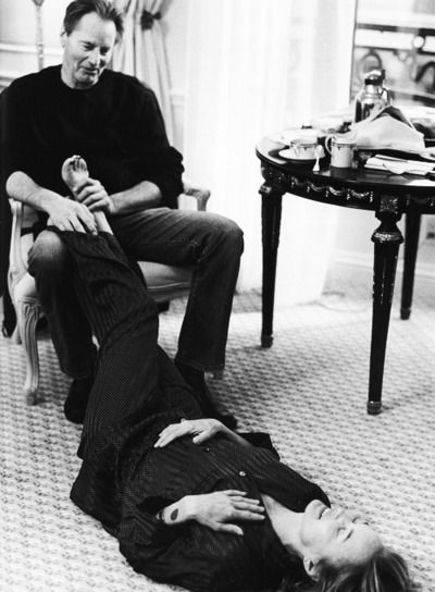 Sam Shepard gives Jessica Lange a foot rub