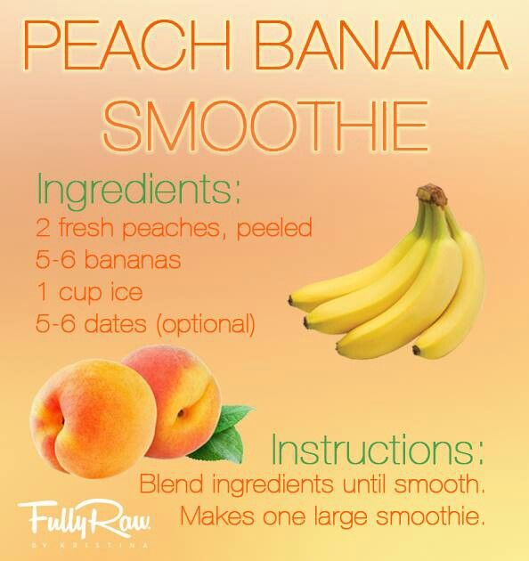 banana smoothie | Healthy Girl Recipes | Pinterest | Peach Banana ...