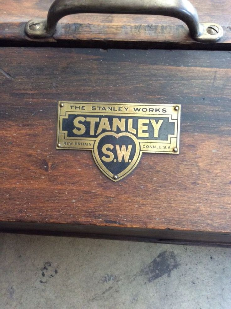 Antique Vtg Stanley Sweetheart Tools Wooden Tool Box W