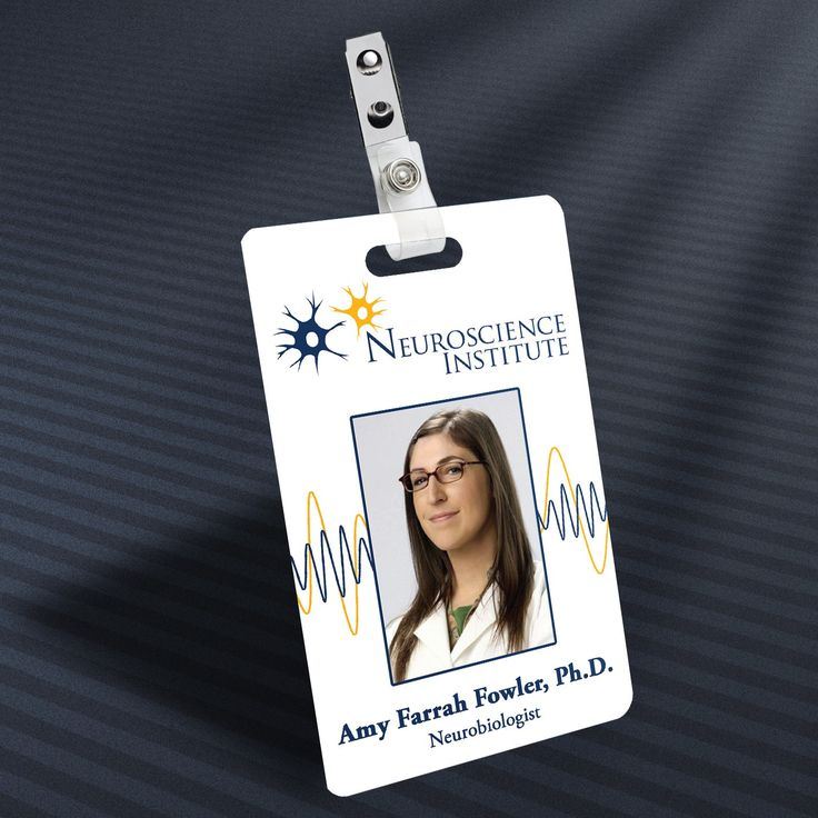 Big Bang Theory - Amy Farrah Fowler Prop ID Badge