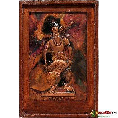Copper Repousse - drummer - Rs. 780 - Hand Made Crafts - Buy & Sell Indian Handmade Crafts and Handmade terracotta, dokra Jewelry and Gifts
