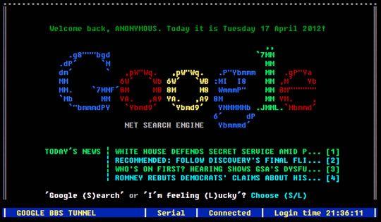 Como seriam os motores de busca no tempo das BBS's
