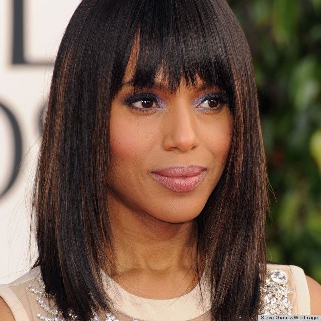 19 best highlights for black women images on pinterest african lets take a moment to discuss kerry washingtons ber sleek look at the golden globes last night the shoulder length hair cut with its messy bangs paired pmusecretfo Image collections