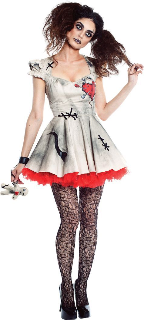 Women's Voodoo Doll Costume with Doll - Halloween City