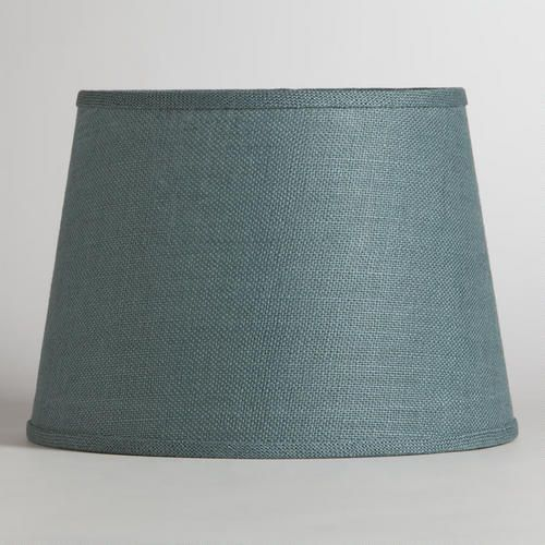 One of my favorite discoveries at WorldMarket.com: Thyme Burlap Table Lamp Shade