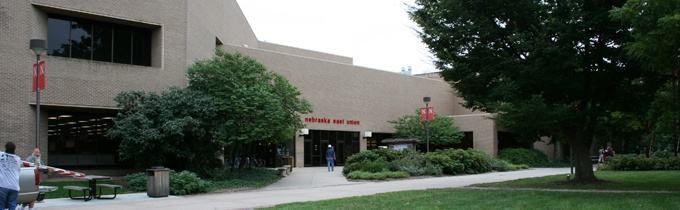 As the center of campus life on East Campus, the Nebraska East Union brings together students, faculty, staff, and the broader community at the University of Nebraska–Lincoln. The Nebraska East Union is home to many cultural, educational, recreational, social, dining, and service activities available to the University community. - http://unions.unl.edu/east