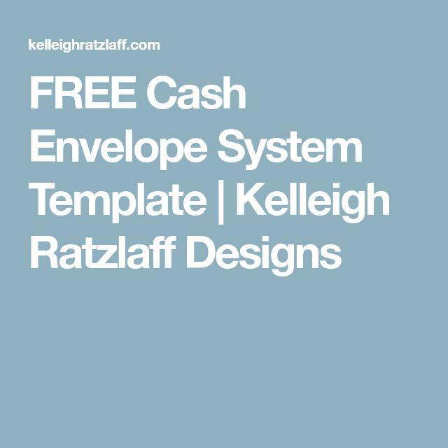 FREE Cash Envelope System Template | Kelleigh Ratzlaff Designs