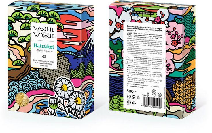 Packaging for Woshi-Woshi bath salts by Art Lebedev