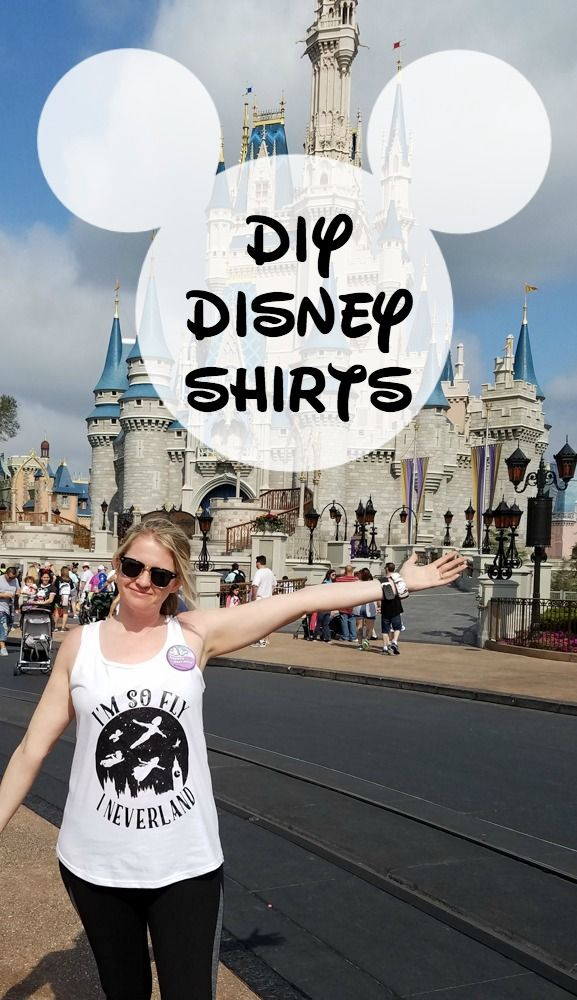 Learn how to make your own shirts for Disney using heat transfer vinyl!