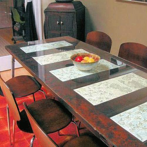 Pick up a salvaged panel door in need of some tlc and turn for How to turn an old door into a table