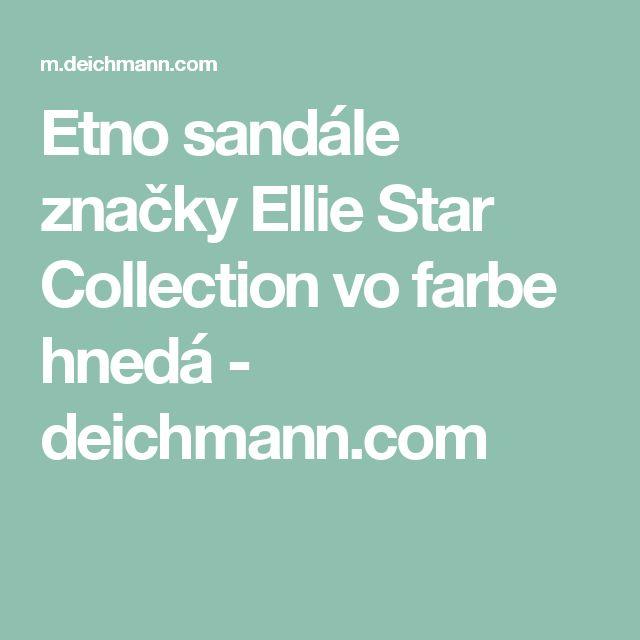 Etno sandále značky Ellie Star Collection vo farbe hnedá - deichmann.com