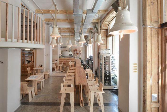 Restaurant, simple, white, natural colours