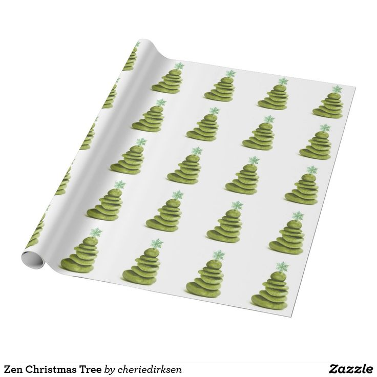 30% off this #BlackFriday2017 --- Zen Christmas Tree Wrapping Paper